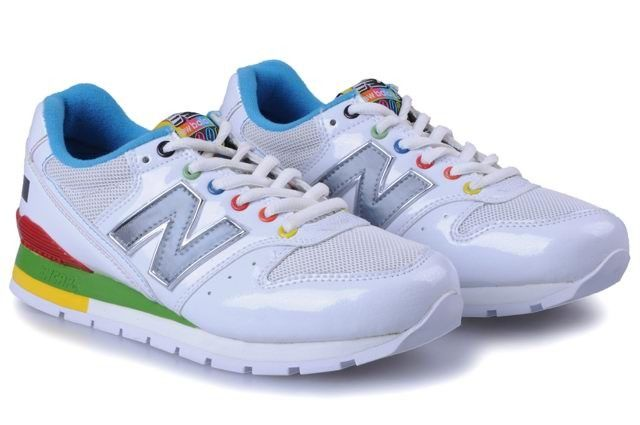 New Balance CM996MWT Running Men, 2012 Classic, Total White Blue Gray Logo  Colorful Outlet