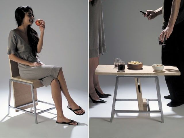 2 In 1: Chair And Coffee Table