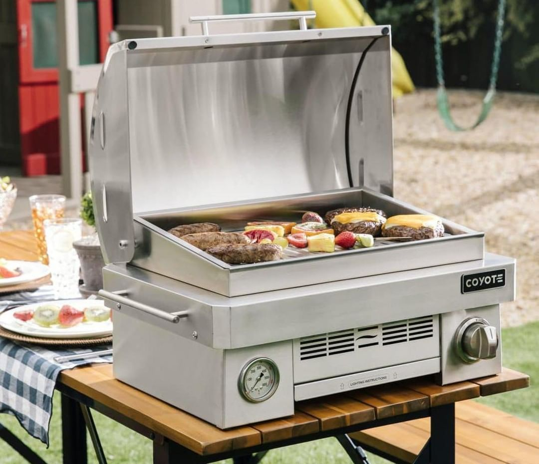 It S Always About The Right Equipment On Game Day The New Coyote Portable Gas Grill Is A High End Compact Product Perfe Outdoor Cooking Gas Grill Grilling