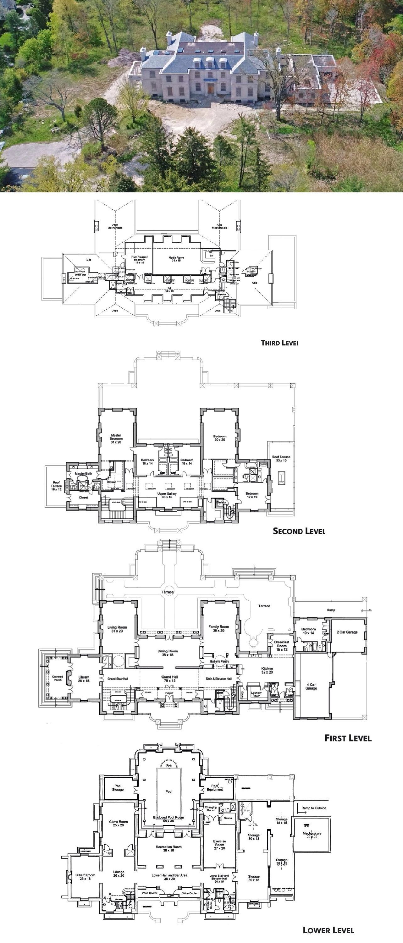 24 000 Square Foot Unfinished Mansion In Lake Forest Illinois House Plans Mansion Mansion Floor Plan Dream House Plans