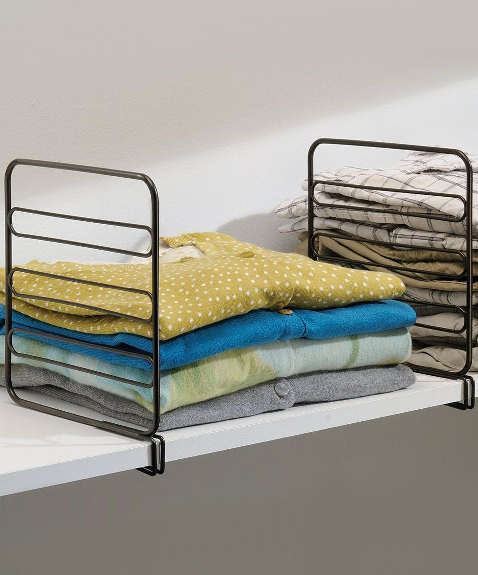 Take a look at this bronze classico shelf divider set of two today