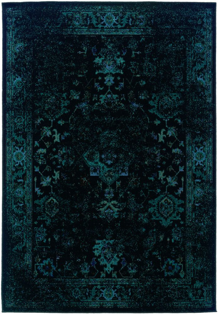 Oriental Weavers Revival 3689g Black Area Rug Teal Rug Black