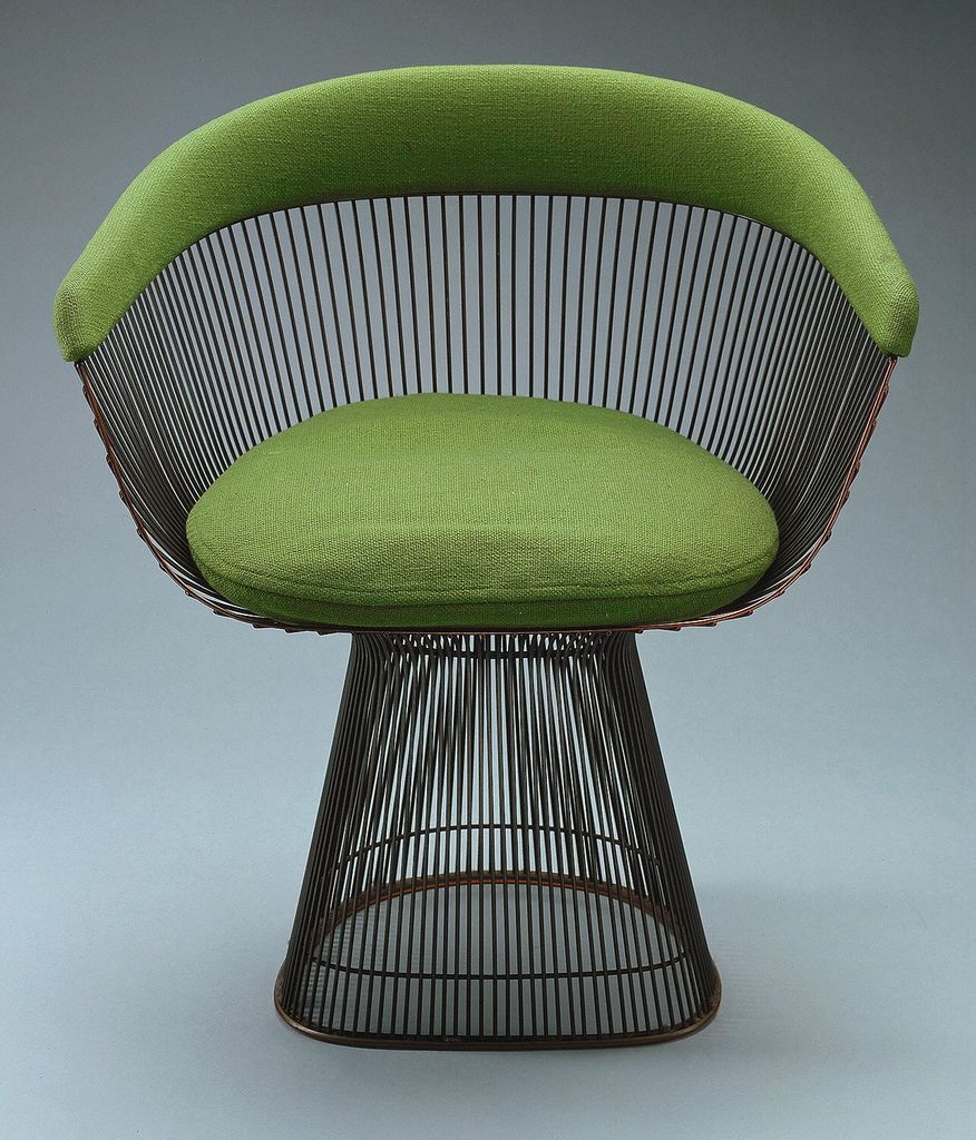 Warren Platner Bronze Plated Steel Chair For Knoll 1965