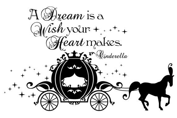 A Dream Is A Wish Your Heart Makes With By Persnicketywallvinyl