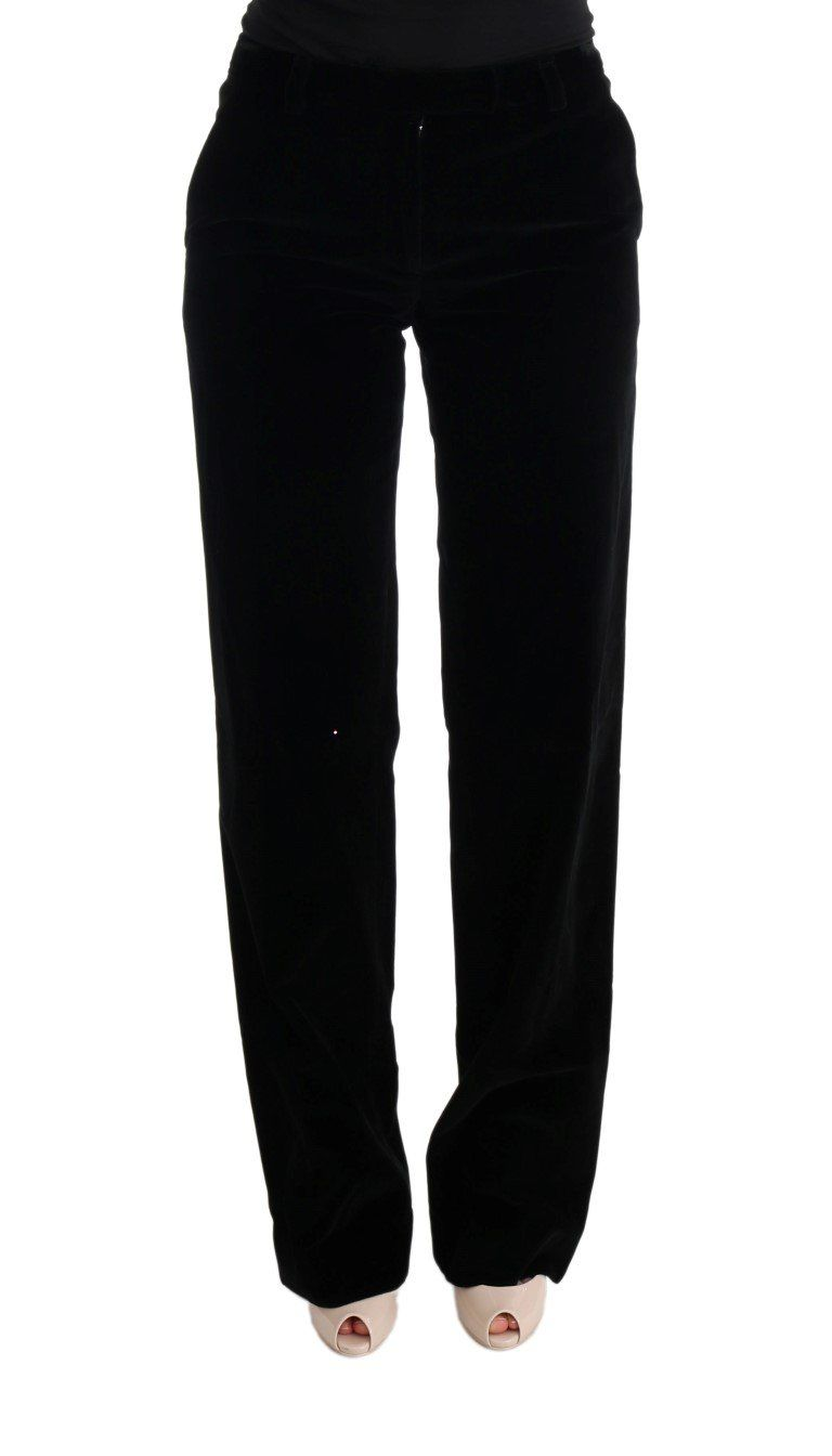 Black Cotton Regular Fit Formal Pants   IT40 S Gallery