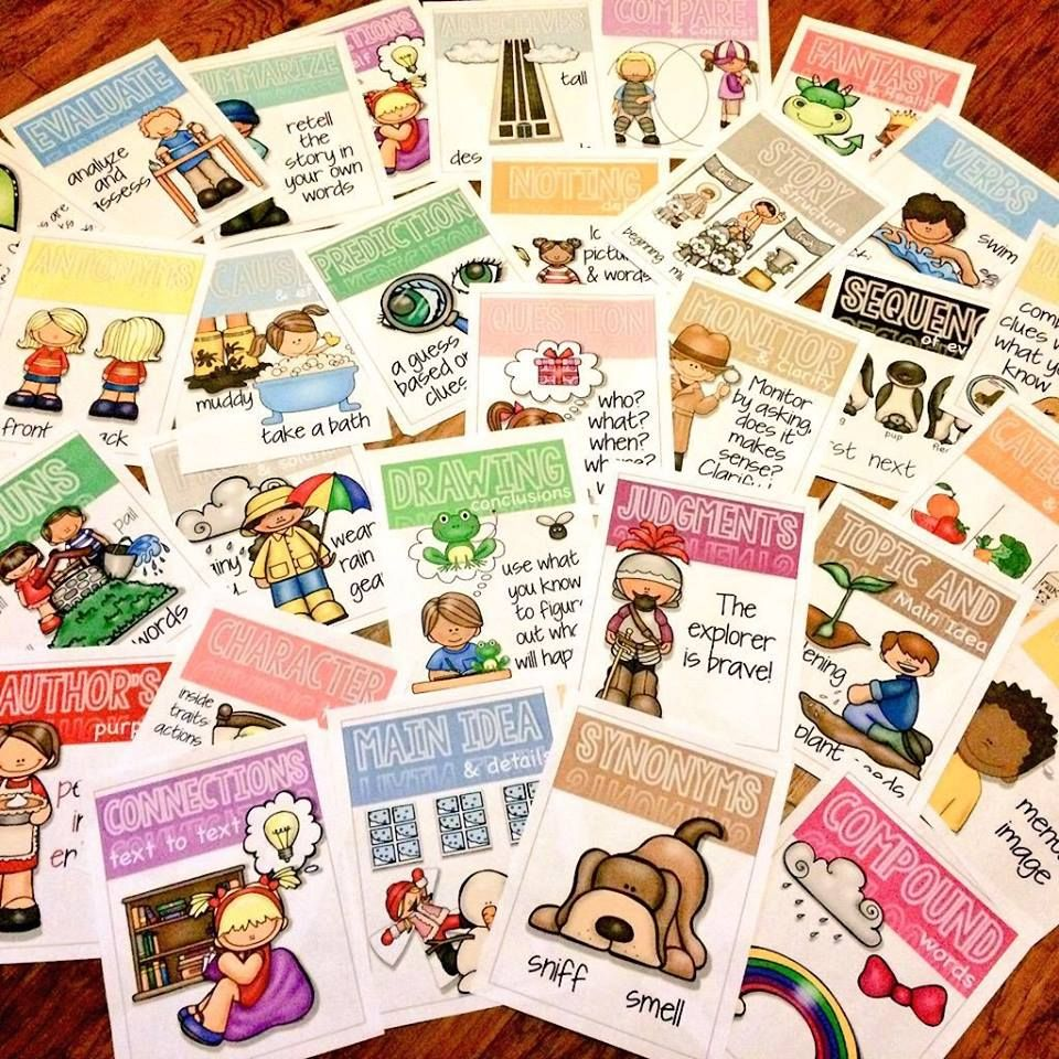 Primary graffiti comprehension skills and strategy posters and freebie