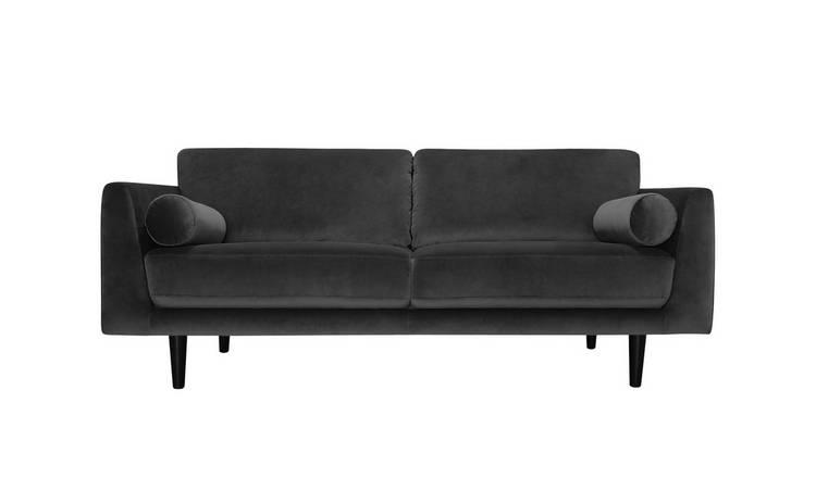 Buy Argos Home Jackson 4 Seater Velvet Sofa Orange | Sofas