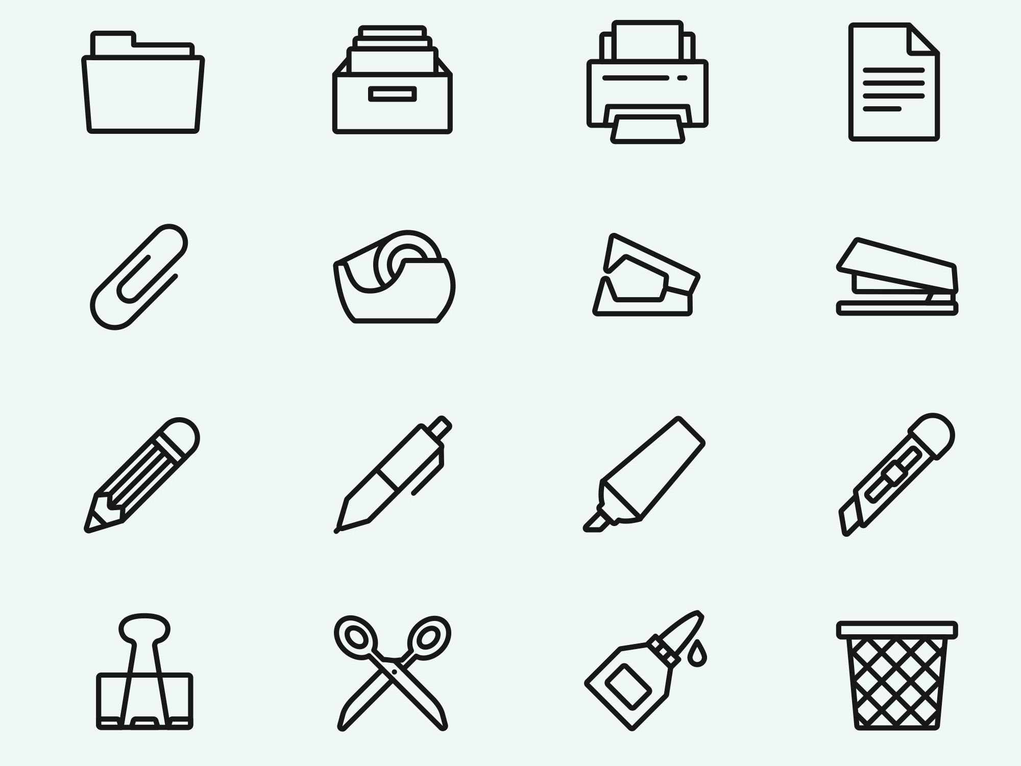 Free Office Tools Icons Free, Tools, Icon design