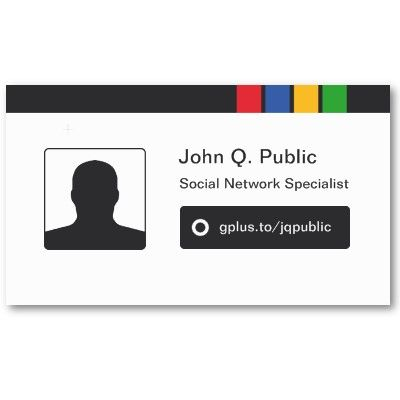Google business card design to promote your google plus profile google business card design to promote your google plus profile avatar can be customized as colourmoves