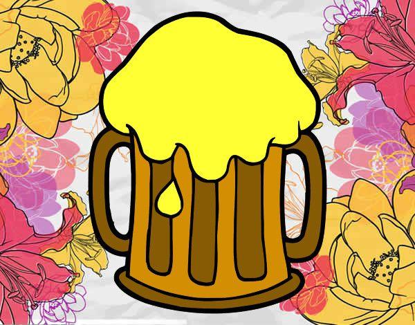 Botella De Cerveza Dibujo: Dibujo De Cerveza Fría. Para Pintar En Línea, Imprimir