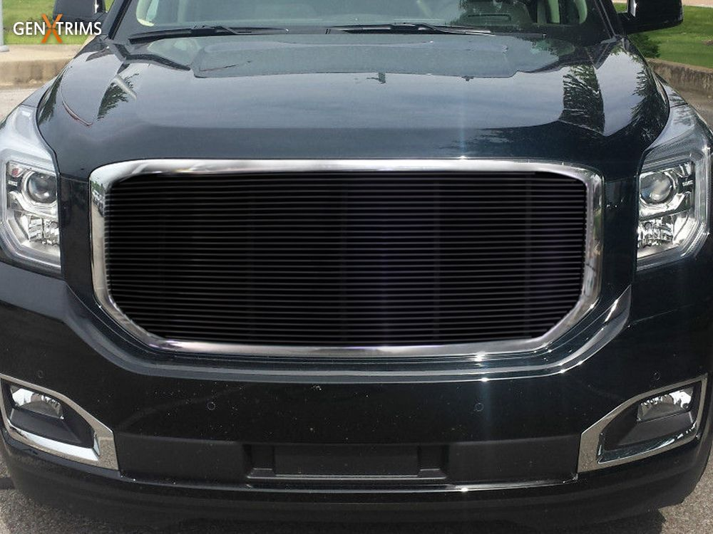 2015 Gmc Yukon Black Billet Grille Insert By Genx Trims Gmc