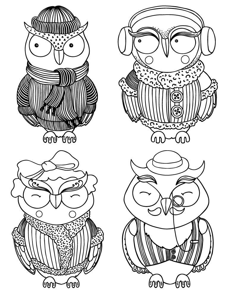Pin On Coloriages De Hiboux Pour Adulte Owl Adult Coloring Pages