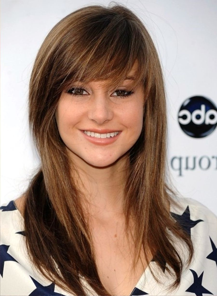 Marvelous Long Bob Hairstyles With Side Bangs Long Bob Hairstyles With Side Short Hairstyles Gunalazisus