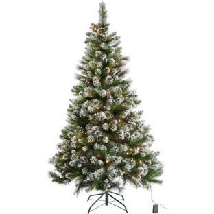 Buy Pre Lit Snow Tipped Christmas Tree with 180 Lights - 6ft at Argos.co.uk - Your Online Shop for Christmas trees.