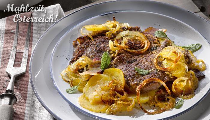 Obersteirischer Rostbraten #meat #yummy #styria #recipe #food #speck #onion #hearty