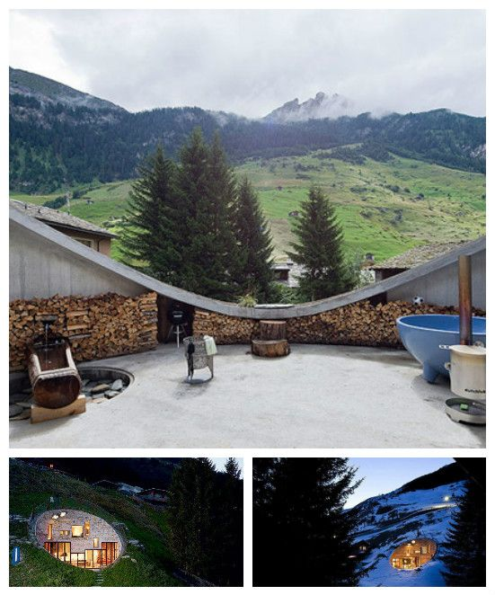 underground home designs swiss mountain house rocks - Home Designs Swiss Mountain