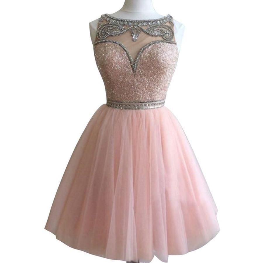 Dark pink bateau gorgeous stunning casual homecoming prom gown