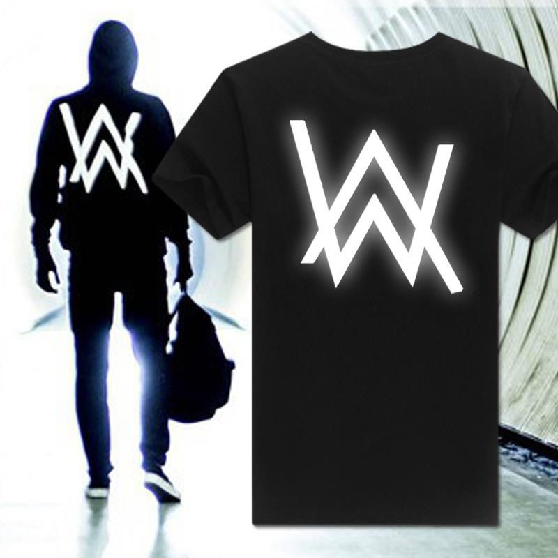Men 39 s clothing alan walker faded aw cotton t shirt o neck tee shirts dj tops unbranded - Alan walker logo galaxy ...