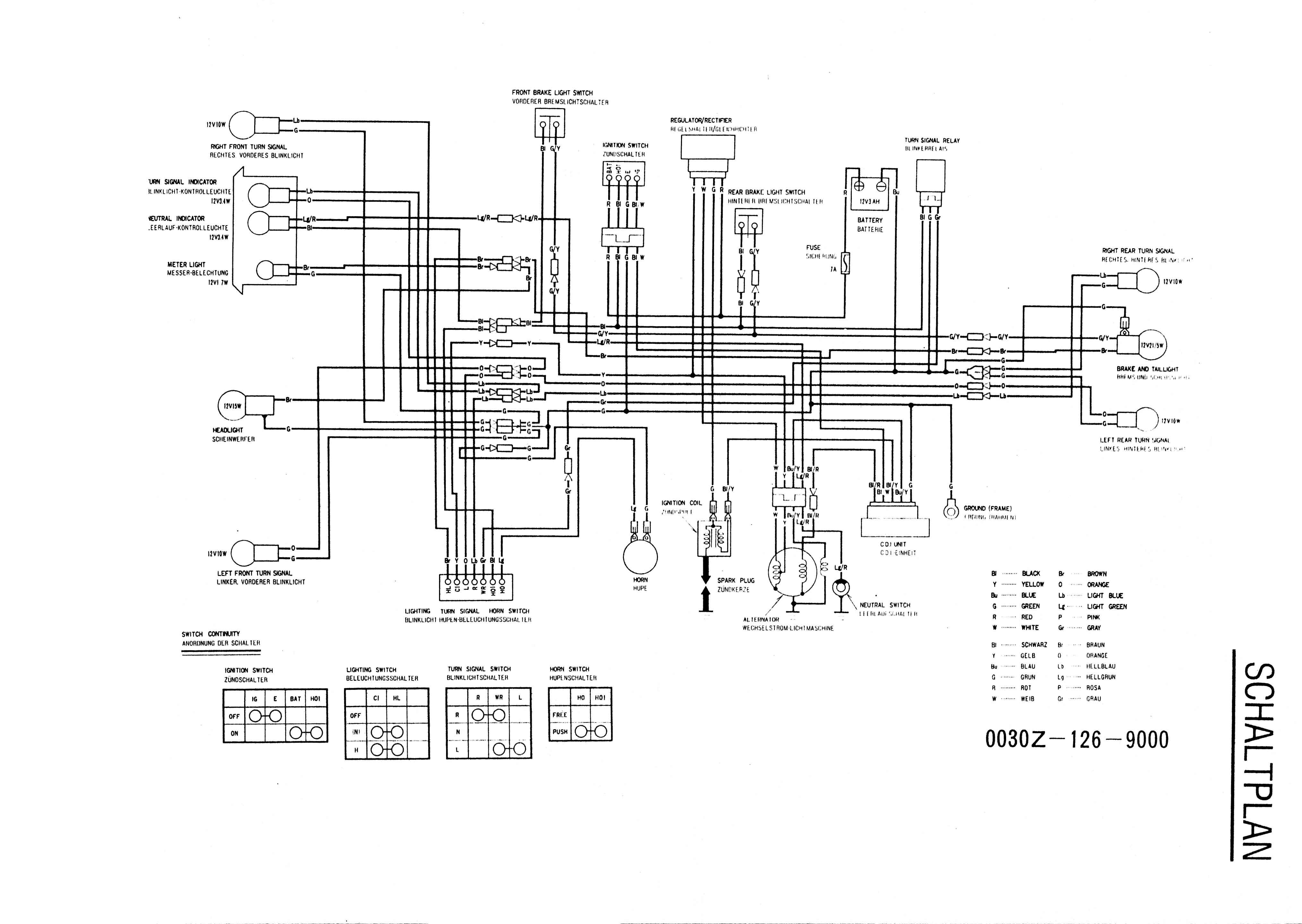 Technik Pit Bike Wiring Diagram Avec Images