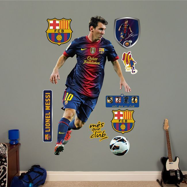 Fathead Lionel Messi Wall Decals Are Life Size Action Images That You Stick  On Any