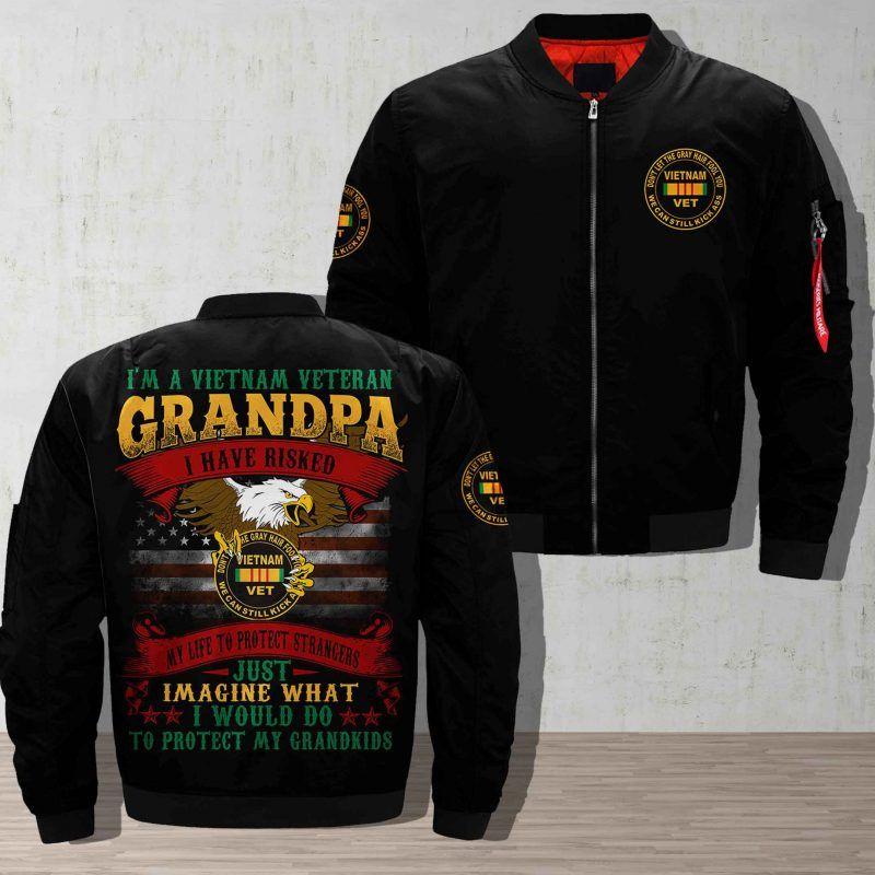 Vietnam Vets Pick Up Over Print Jacket In 2020 Print Jacket Jackets Printed Bomber Jacket