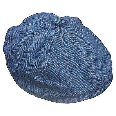 G&h blue #herringbone overcheck newsboy #peaky #blinders style cap hat,  View more on the LINK: http://www.zeppy.io/product/gb/2/272146918905/