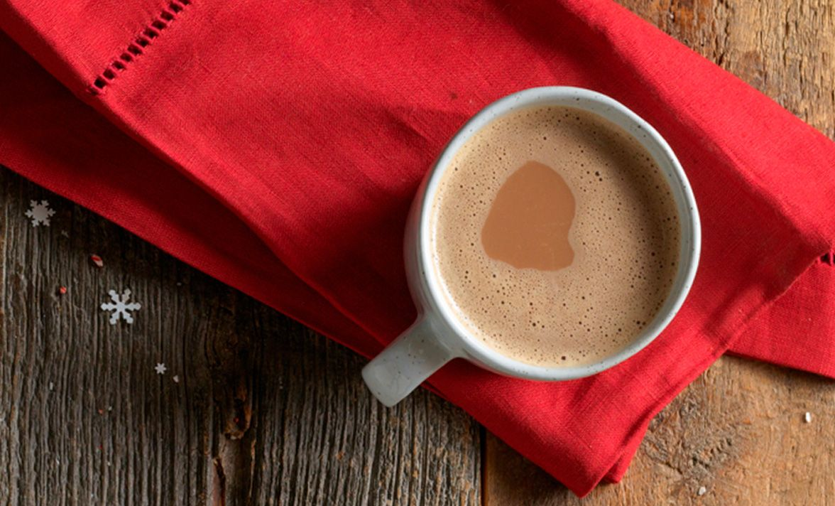 A cozy cup of starbucks hot cocoa makes for a rich