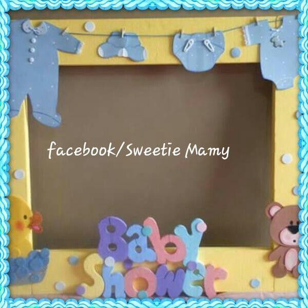 de imagen para marco para fotos baby shower adornos para baby shower