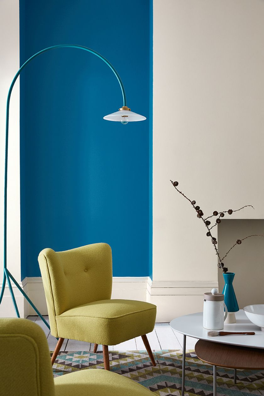 Little Greene Blue via Becky Clarke Interiors