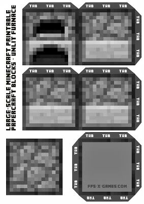 Larger Scale Minecraft Printable Block Collection Minecraft