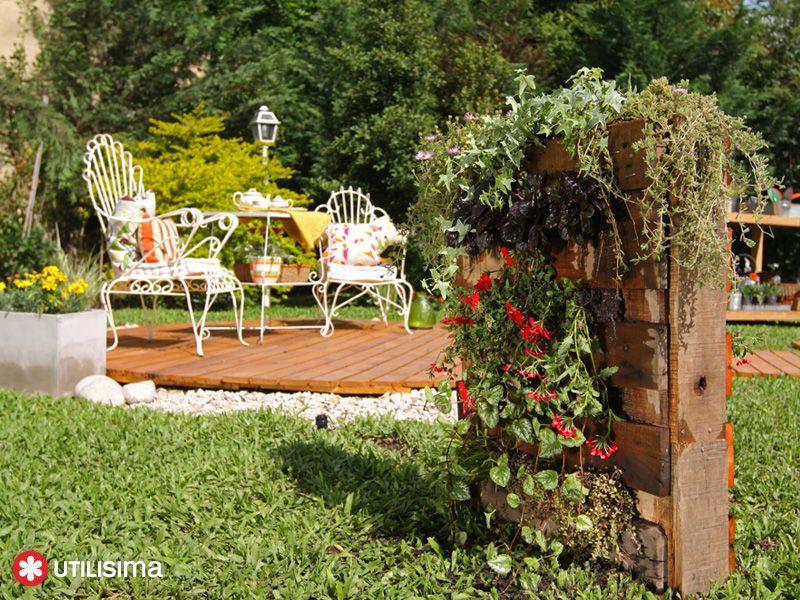 Jard n vertical con paleta por luz blanchet util sima for Utiles de jardineria