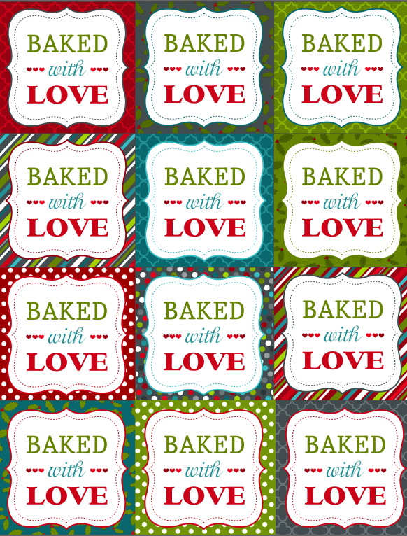 Free printble christmas labels for your homemade baked goods free printble christmas labels for your homemade baked goods negle Images