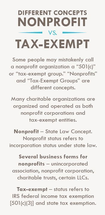 Different Concepts, Nonprofit VS Tax- Exempt NonProfit Resources