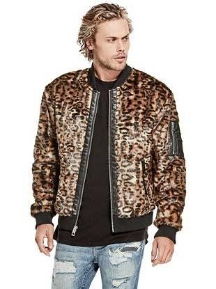c1c6ffa82a30b Leopard-Print Faux-Fur Jacket