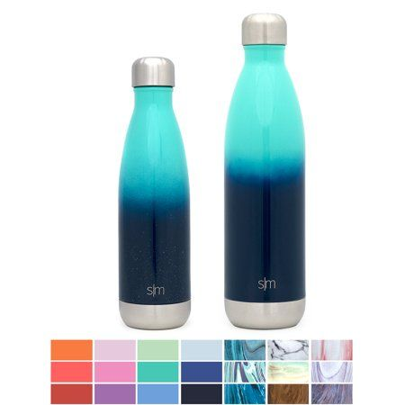 9935538011 Simple Modern 17 oz Wave Water Bottle - Stainless Steel Swell Hydro Metal  Flask - Wide Mouth Double Wall Vacuum Insulated Reusable Small Kids Coffee  Leak ...