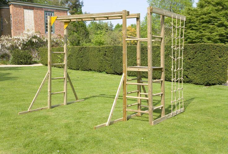 Monkey Bars With Climbing Ropes Outdoor Fun Pinterest Backyard Play Kids Outdoor Play Backyard Playground