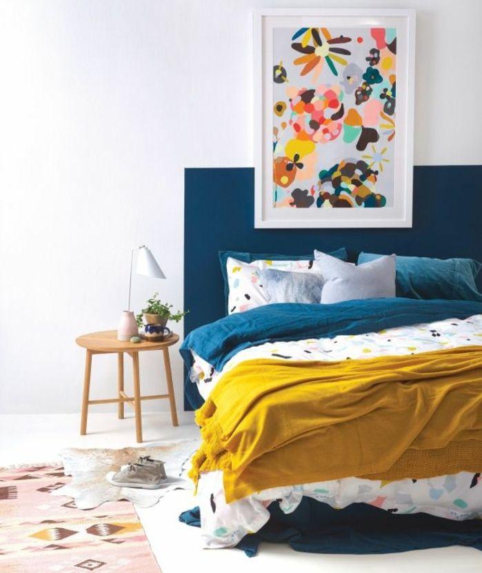 1001 Idees Creer Une Deco En Bleu Et Jaune Conviviale Deco Chambre Bleu Deco Chambre Jaune Et Chambre Bleu
