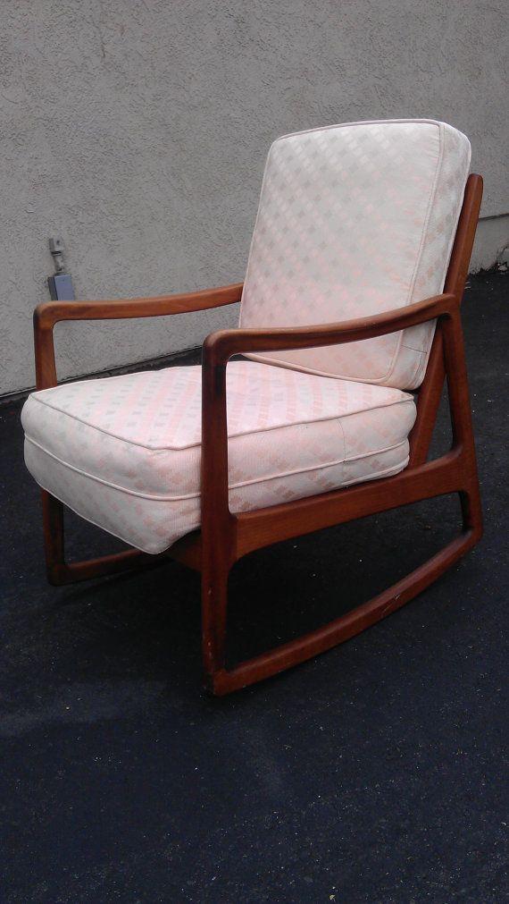 Stellar U0026 Rare MCM John Stuart Rocking Chair Mid