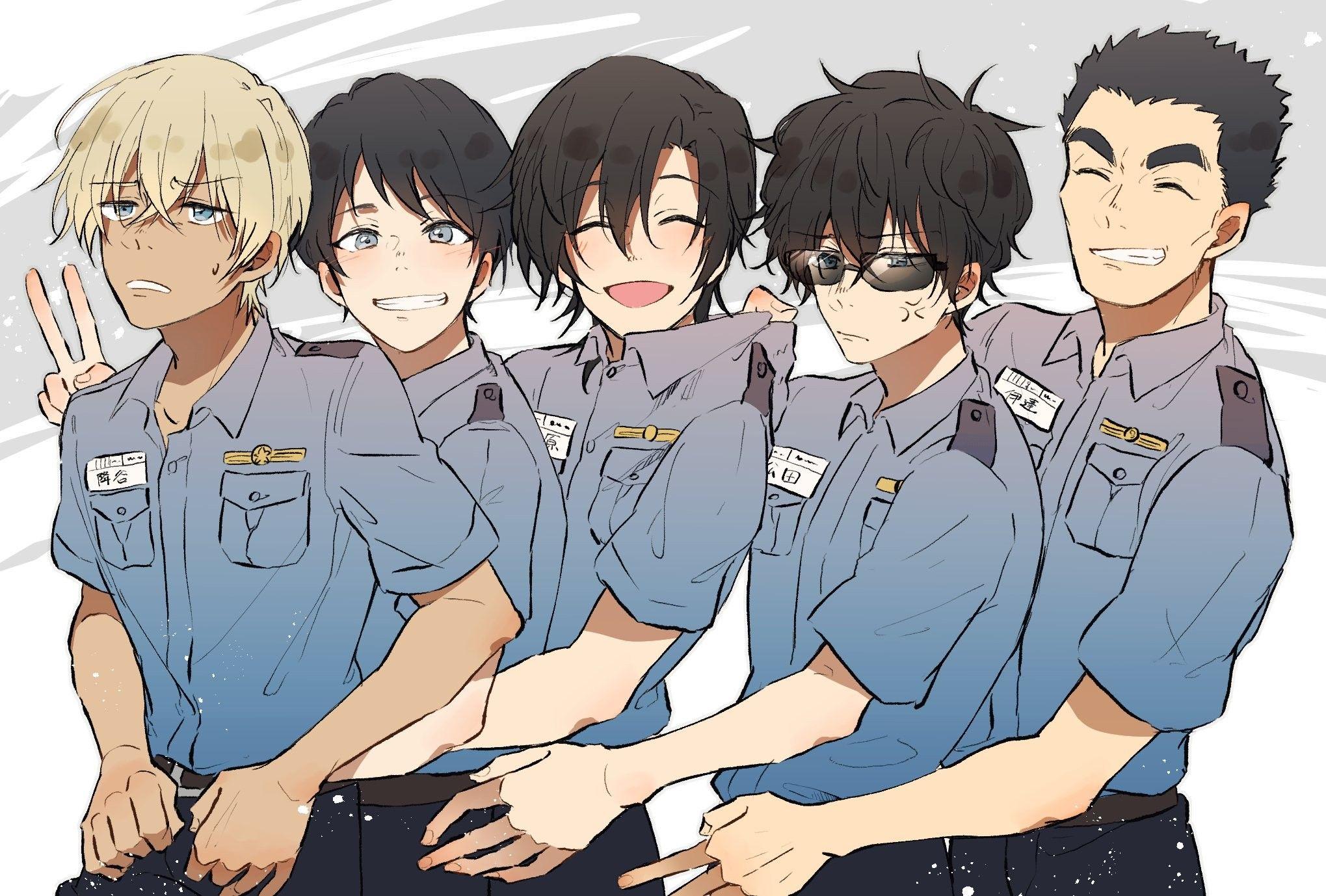 Amuro and the police team Amuro Detective Conan