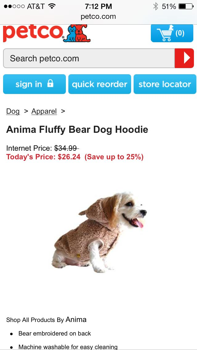 Petco Bear Dog Petco Dog Hoodie