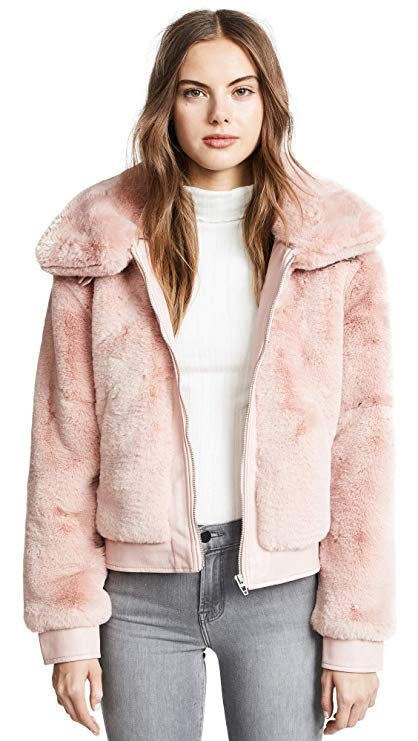 [BLANKNYC] Blank Denim Women's Faux Fur and Vegan Leather