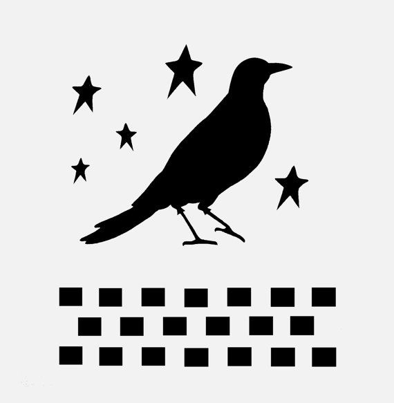 Crow Stencil Primitive Stencils Star Stars Checkerboard Border Pattern Template Templates Craft Scrapbook New 8 X 10