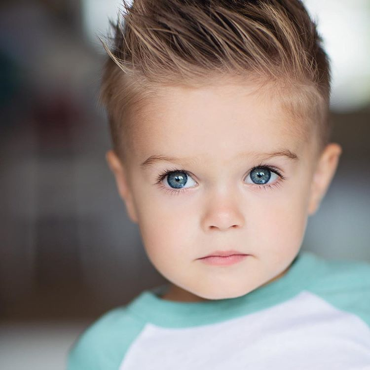 Hair Down Yay Or Nay I Like It Both Ways But Still Prefer Spikey Denim Jacket Ltl Ppl Baby Boy Hairstyles Boys Haircuts Toddler Haircuts