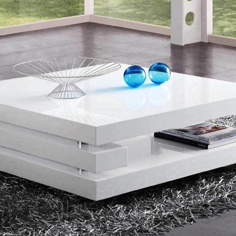 Impressionnant Table De Salon Moderne Blanc Table De Salon