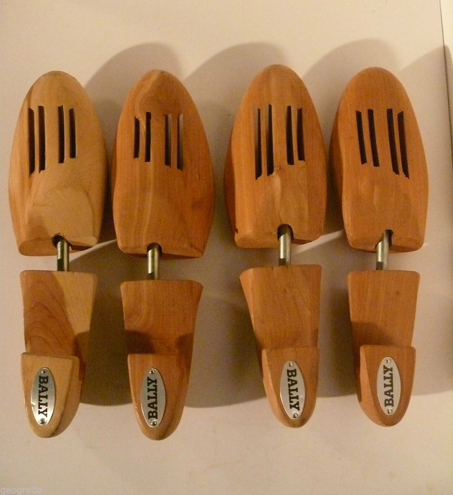Details About Pair Of Bally Cedar Wood Shoe Tree Form Stretcher