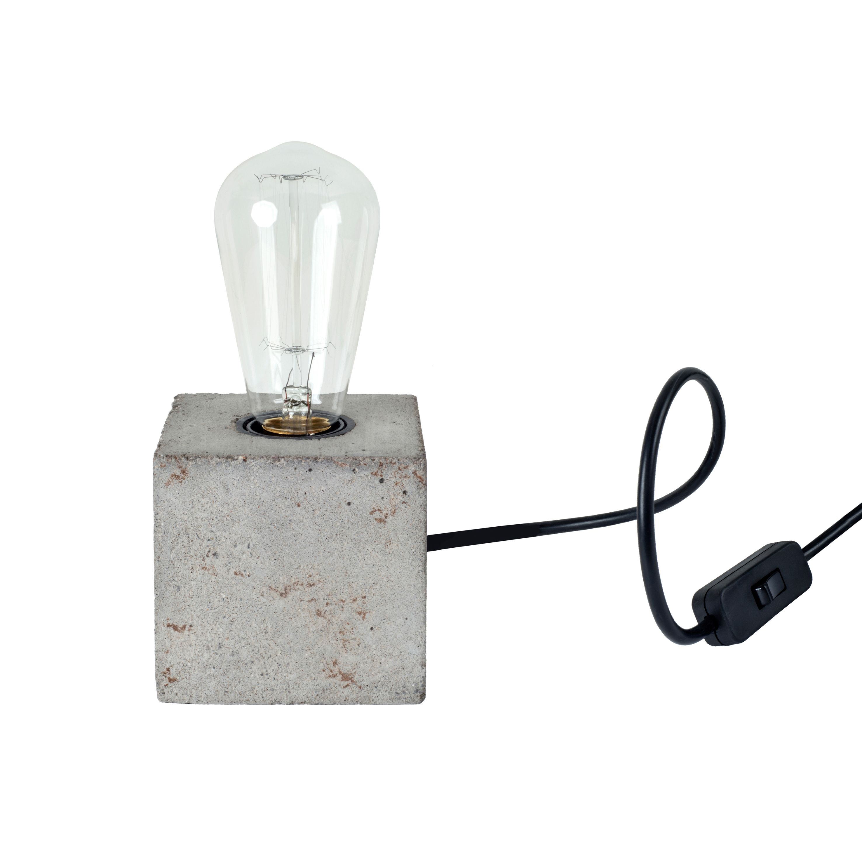 A handmade concrete base lamp from HomeCrush. With a E27 lamp ... for Bulb Holder With Plug  67qdu