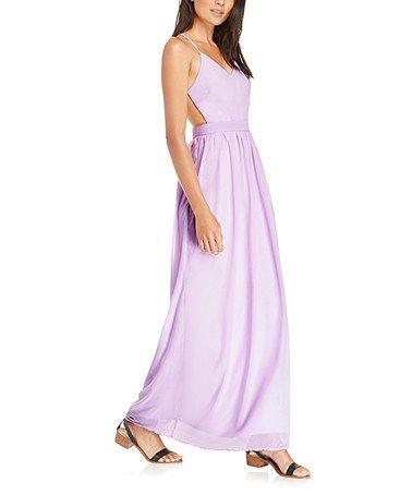 Loving this Lilac Crisscross Maxi Dress on #zulily! #zulilyfinds
