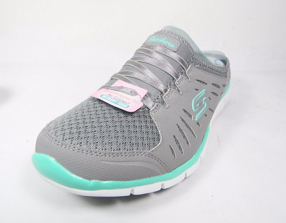 Skechers Flex 22752 Gymn Air Cooled Memory Foam Mule Sneakers