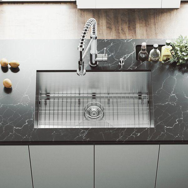 Vigo Stainless Steel Kitchen Sink Grid And Strainer 30 In Rona Farmhouse Sink Kitchen Apron Sink Kitchen Sink