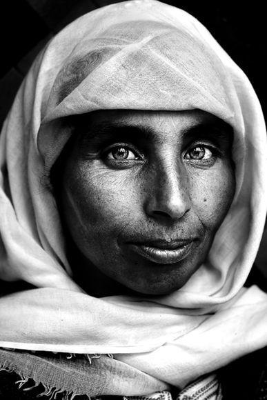 "A portrait of Amazigh ""Tmazigh"" lady,, North Africa (Morocco, Algeria, Libya and Sahara)."